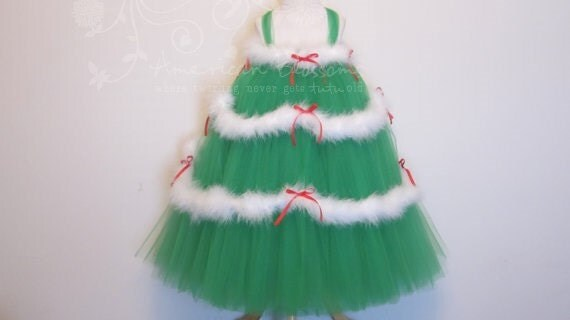 Items Similar To Christmas Tree Tutu Dress Green Red