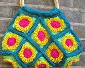 pattern for funky flower bag- make it yourself .