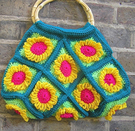 pattern for funky flower bag make it yourself