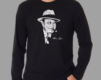 Men's Long Sleeve T-Shirt - Al Capone - Created out of the words Original Gangster