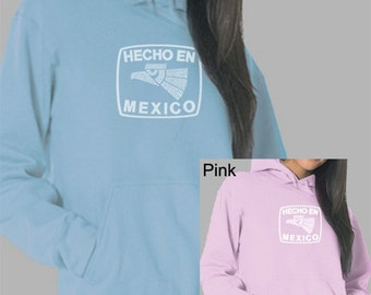 Women's Hooded Sweatshirt - Created using all the States in Mexico