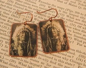 Native American earrings Sitting Bear Native American jewelry mixed media jewelry