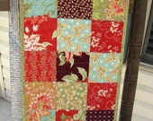 SALE - Quilted Table Runner Tapestry by Fig Tree and Company