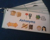 Antonyms Flash Cards / Antonym Sight Words Laminated - Ring Option - 1st, 2nd, or 3rd Grade - Kids Educational Toys - Montessori Learning