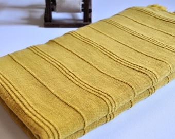 Turkish Towel Peshtemal towel Cotton Peshtemal Stone washed Towel in Mustard