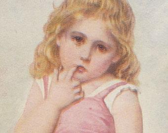 "Ca. 1908 ""Penitence"" Art Postcard - 1363"