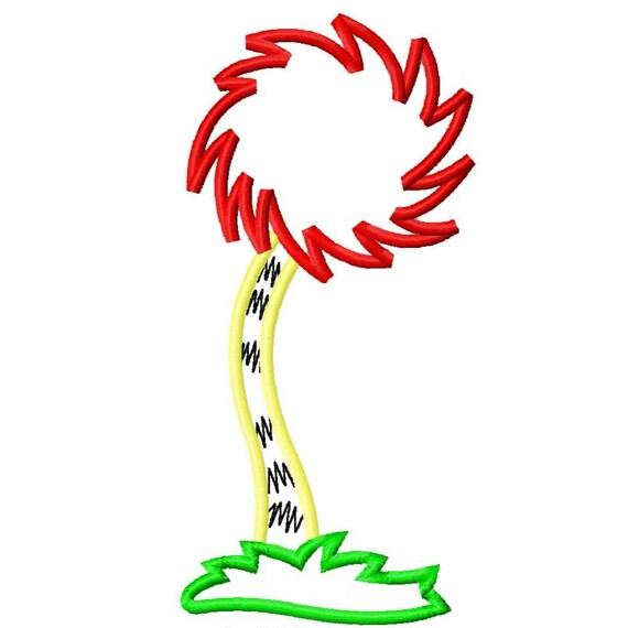 Truffula Tree Applique Embroidery Applique Design by ...