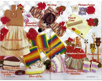 Quick n Easy Bazaar Crochet and sewing Pattern Book Annies Attic 87S52