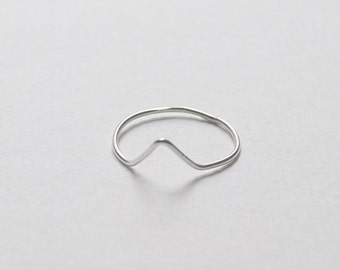 Sterling silver stacking ring with triangle