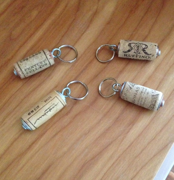 wine cork key chain keychain made with real wine cork. Black Bedroom Furniture Sets. Home Design Ideas