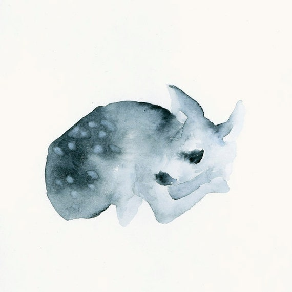 Fine Art Giclee Print from Original Watercolor - Ghost Fawn