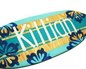 Personalized Surfboard Sign, 18 inch Surf Board Wall Art, Custom Beach Sign, Surfboard with Name Sign, Beach Decor, Surf Decor