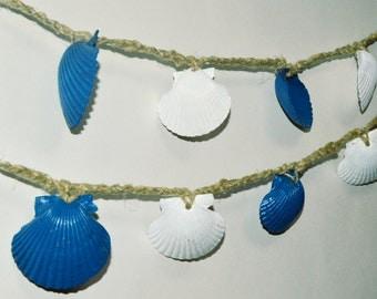 Beach Wedding Garlands, Beach Garden Wedding, Seashell Garland, Seashell Decorations, Beach Party Decorations, Tiki Bar Decor, Luau Party