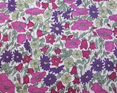 LIBERTY Of LONDON Tana Lawn Cotton Fabric  'Poppy and Daisy' Lg Fat Quarter 18 X 26 in Burgundy Sage Floral