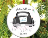 Newlywed Christmas Ornament - Just Married - Newlywed Christmas Gift