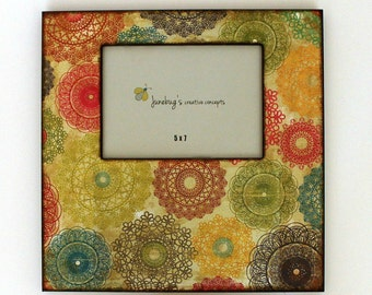 5x7 12x12 Large Picture Frame Colorful Doilies