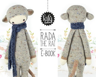 RADA the rat, mouse • lalylala crochet pattern / amigurumi