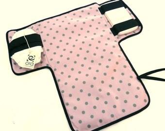Waterproof Baby changing mat purple polka dot