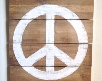 Rustic Peace Sign