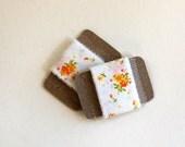 fabric ribbon, hand torn, frayed, floral fabric ribbon, ribbon garland supply, ribbon gift wrap, reusable ribbon, ribbon party decor