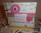 Baby Girl's First Birthday Keepsake scrapbook