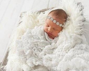 Crystal Jewel Luxe Headband -  Angelica - Girls Newborn Infant Child Toddler Teen Adult