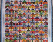 100 Houses wall quilt