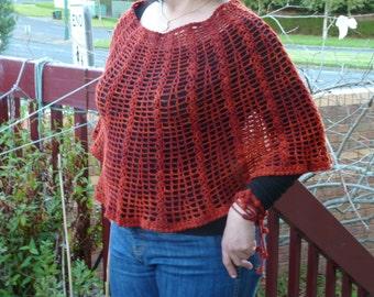 CROCHET PATTERN - Crochet Capelet - Crochet Skirt - Crochet Poncho - Crochet Lariat - Crochet Beach Wrap - Lacy Poncho Crochet - Poncho diy