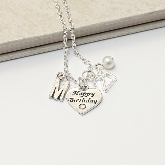 Personalized 18th Birthday Necklace Initial Custom: Personalized 21 Birthday Necklace With Your Initial And
