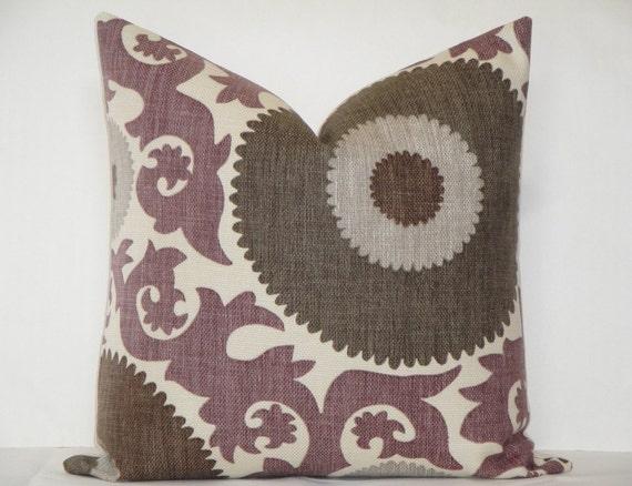 Decorative Pillow Cover Fahri Grape Purple Grey Brown