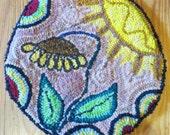 Round Sunflower Hooked Chair mat