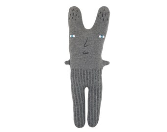 Rabbit - soft knitted toy