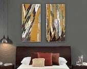 Very large wall art set Diptych artwork canvas print tree art modern abstract landscape office bedroom living dining room wholesaledecor