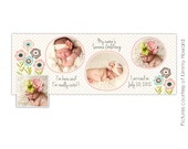 Facebook Timeline Cover - Photoshop Template - Birth Announcement - E450