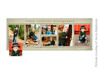 INSTANT DOWNLOAD - Facebook custom timeline cover - Photoshop template - E347