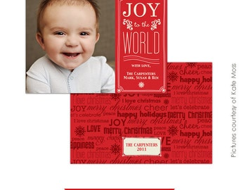 Holiday Card Template - Photoshop template - E109