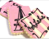 Cookies Paris Theme Ooh La La Sugar Cookies Pink Eiffel Tower Iced Decorated Cookies France