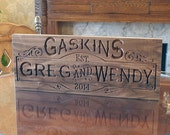 5yr Anniversary Gift, Carved Wedding Sign, Wedding Date Sign, Personalized Sign, Wood Anniversary, Benchmark Signs Walnut SB