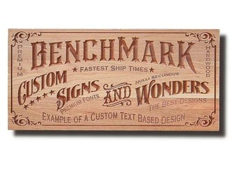 Custom Sign: Engraved Wooden Sign for Custom Text Man Cave Sign Motorcycle Sign Business Sign Cherry CT