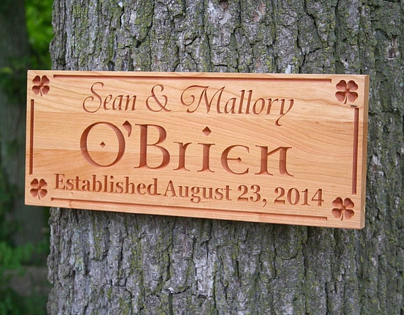 Irish Man Cave Signs : Irish name sign man cave personalized by