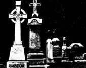 Dark Art, Dark Photography, Tombstones, Creepy, Black and White, Fine Art Photography, NOTL Graveyard, Graveyard prints, graveyard photos