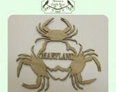 Maryland / Crab Wood Cut Out - Laser Cut