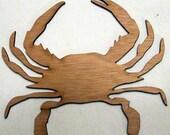 Crab -  (Large ) Wood Cut Out -  Laser Cut