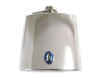 Blue Penguin 6 oz. Stainless Steel Flask