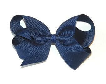 Light Navy Large Hair Bow
