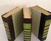 Vintage Green Reader's Digest Books Decorator Spring Home Decor Bookshelf Display Green Book Group