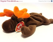 Super Duper Sale Vitnage Ty Beanie Baby CHOCOLATE MOOSE Original Nine 1993 93 with Swing Tag and Tush Tag Great Condtion