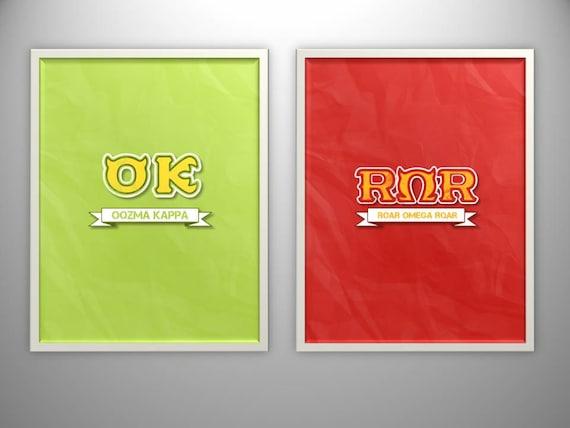 oozma kappa. roar omega roar.. disney.. monsters university.. green logo.. digital copy