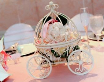THE ORIGINAL Inspired by Disney's Fairytale Wedding Cinderella's Carriage Coah Pumpkin table centerpiece