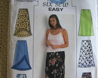 Butterick Misses Skirt Pattern 3783 Size 22 24 26 W UC Plus Uncut